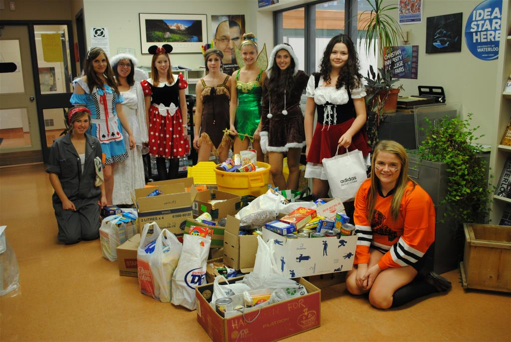 WE SCARE HUNGER at Beasmville Secondary.  October 31, 2012